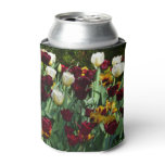 Maroon and Yellow Tulips Colorful Floral Can Cooler