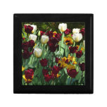 Maroon and Yellow Tulips Colorful Floral Gift Box