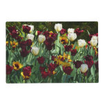 Maroon and Yellow Tulips Colorful Floral Placemat