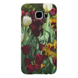 Maroon and Yellow Tulips Colorful Floral Samsung Galaxy S6 Case