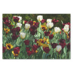 Maroon and Yellow Tulips Colorful Floral Tissue Paper