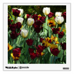 Maroon and Yellow Tulips Colorful Floral Wall Decal