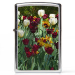 Maroon and Yellow Tulips Colorful Floral Zippo Lighter