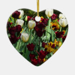 Maroon and Yellow Tulips Ornament