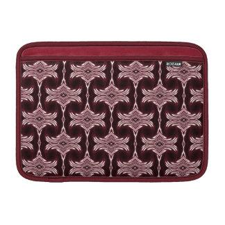Maroon Art Deco Pattern Sleeves For MacBook Air