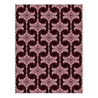 Maroon Art Deco Pattern Postcard