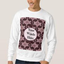 Maroon Art Deco Pattern Sweatshirt