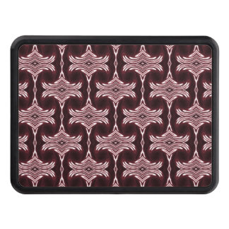 Maroon Art Deco Pattern Trailer Hitch Cover