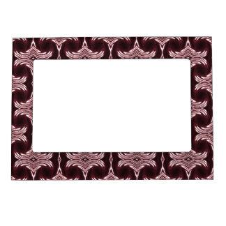 Maroon Art Deco Photoframe Photo Frame Magnets