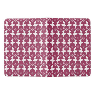 Maroon Ballarinas Extra Large Moleskine Notebook Cover With Notebook