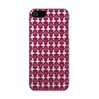 Maroon Ballarinas Metallic Phone Case For iPhone SE/5/5s