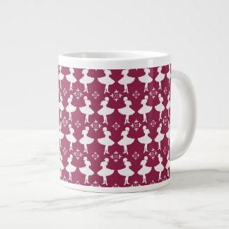 Maroon Ballarinas 20 Oz Large Ceramic Coffee Mug