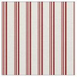 [ Thumbnail: Maroon & Beige Lines Fabric ]