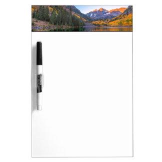 Maroon Bells Alpen Glow Dry-Erase Board