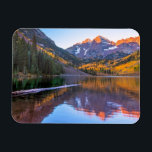 "Maroon Bells Alpen Glow Magnet<br><div class=""desc"">I joined about 60-80 other photographers</div>"