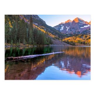 Maroon Bells Alpen Glow Postcard