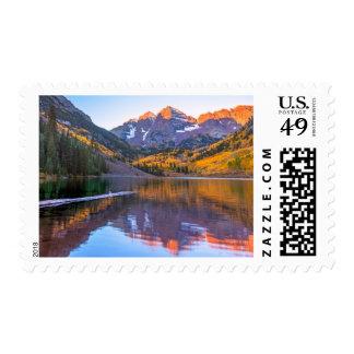 Maroon Bells Alpen Glow Stamp