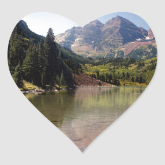 Maroon Bells Heart Sticker