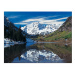 Maroon Bells in White River National Forest in Postcard