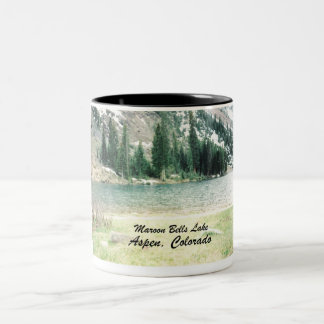 Maroon Bells Lake, Aspen Two-Tone Coffee Mug