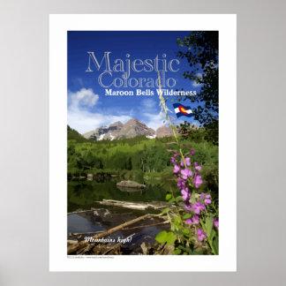 Maroon Bells - Majestic Colorado Poster