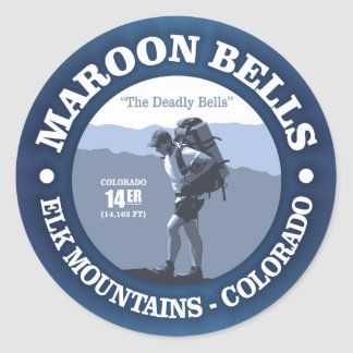 Maroon Bells (rd) Classic Round Sticker