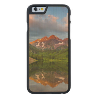 Maroon Bells Reflect Into Calm Maroon Lake 2 Carved Maple iPhone 6 Slim Case