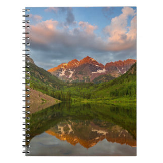 Maroon Bells Reflect Into Calm Maroon Lake 2 Spiral Notebook