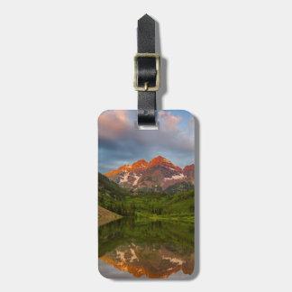 Maroon Bells Reflect Into Calm Maroon Lake 3 Bag Tag