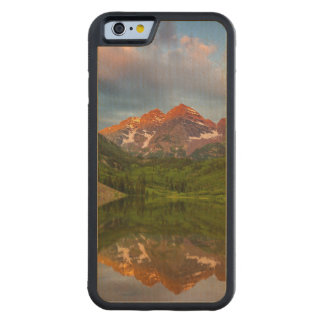 Maroon Bells Reflect Into Calm Maroon Lake 3 Carved Maple iPhone 6 Bumper Case