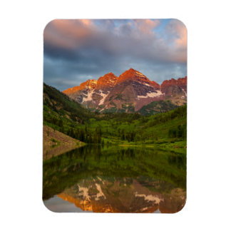 Maroon Bells Reflect Into Calm Maroon Lake 3 Magnet