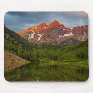 Maroon Bells Reflect Into Calm Maroon Lake 3 Mouse Pad