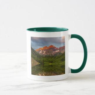 Maroon Bells Reflect Into Calm Maroon Lake 3 Mug