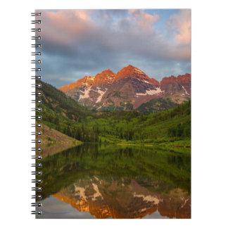 Maroon Bells Reflect Into Calm Maroon Lake 3 Notebook