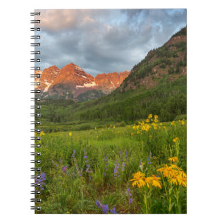 Maroon Bells Reflect Into Calm Maroon Lake Spiral Notebook