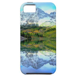 Maroon Bells reflecting in Maroon Lake iPhone SE/5/5s Case