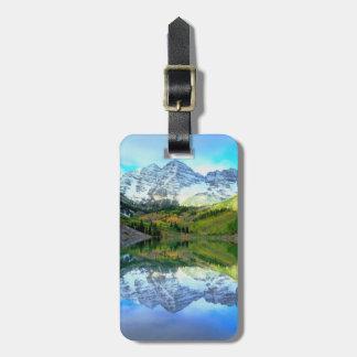 Maroon Bells reflecting in Maroon Lake Luggage Tag