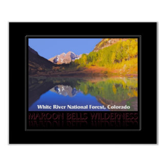 Maroon Bells Reflections - poster