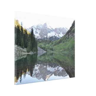 Maroon Bells Reflections Wrapped Canvas