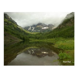 Maroon Bells Series 3 July Reflection Postcard