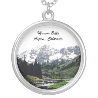 Maroon Bells Silver Plated Necklace