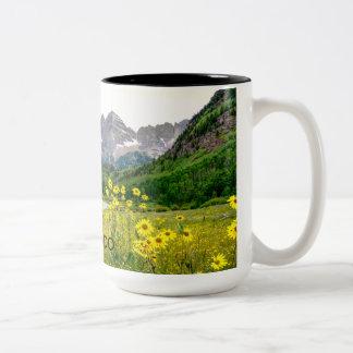 Maroon Bells Two-Tone Coffee Mug