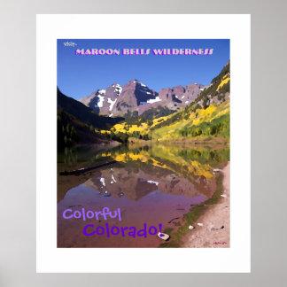 Maroon Bells Vintage Style Poster