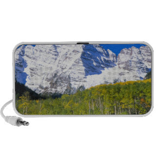 Maroon Bells with autumn aspen forest. iPhone Speaker