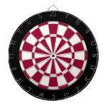 Maroon Black And White Dart Board