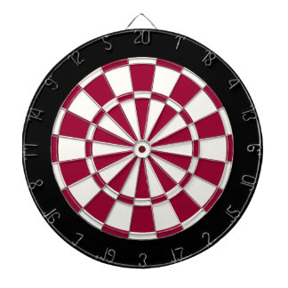 Maroon Black And White Dart Board
