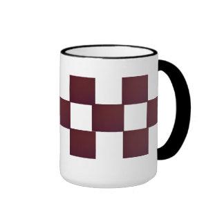 Maroon blocks mug