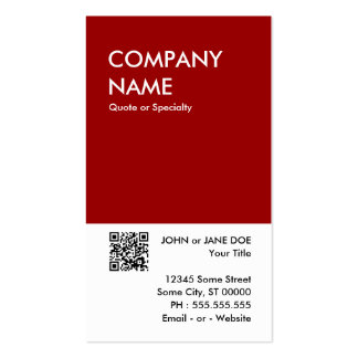 maroon bold design your own QR code Double-Sided Standard Business Cards (Pack Of 100)