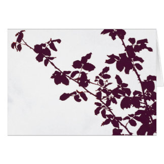 Maroon Branches Card