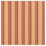 [ Thumbnail: Maroon & Brown Pattern Fabric ]